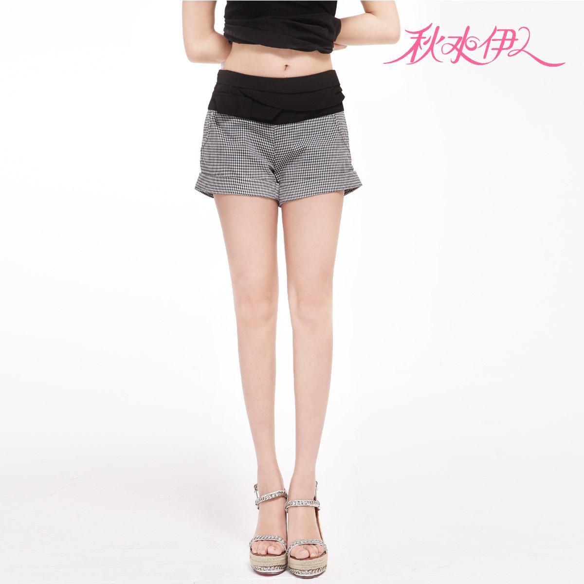 QIUSHUIYIREN 2012 fashion patchwork check shorts 112108060 288