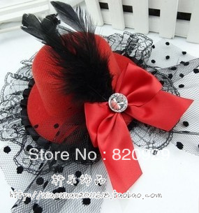 Queen bowknot lace hair accessories bride cap