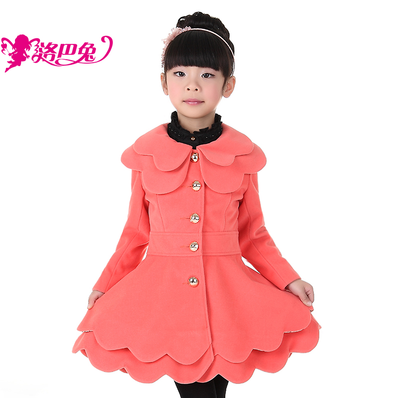 Rabbit children's clothing female child trench 2013 spring outerwear princess big boy lily trench thickening