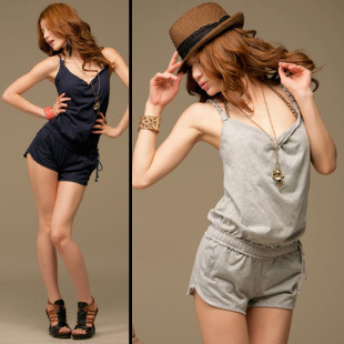 Racerback new arrival women's summer fashion personality shorts casual jumpsuit