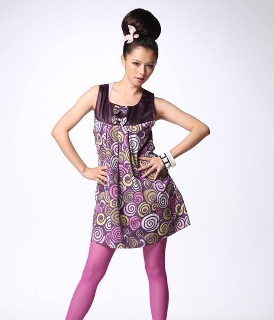 Radiation-resistant maternity clothing electromagnetic wave metal blending fiber butterfly full print dress