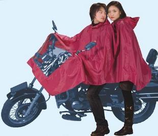 Raincoat n231 apple double motorcycle electric bicycle poncho double raincoat