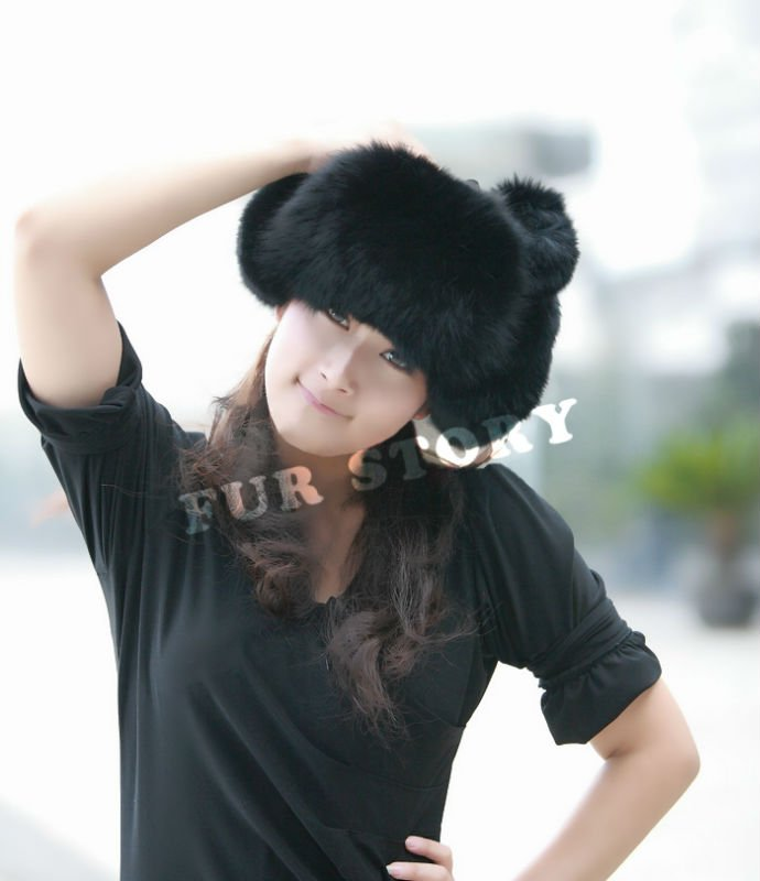 Real good quality Fox fur hat pelt hat / earmuff various color BOTH  for man and Women