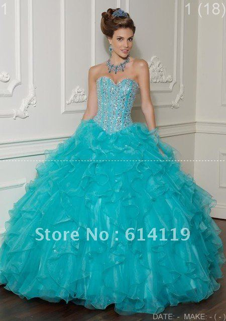 Real Sample!Dazzling Golden ball Sequin Quinceanera Dresses Ball Gown Sweetheart Organza Floor length Prom Dresses