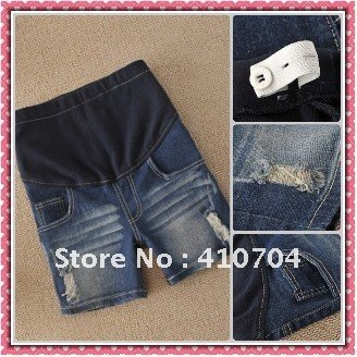 retail and wholesale fashion maternity pants Denim Shorts trousers Elastic waistline jeans s m l xl xxl 5860