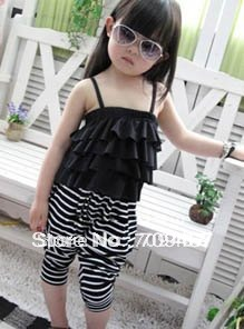 Retailer-Free Shipping!Promotion!Stock! Korea Girl Causal Cotton Jumpsuit / Pant/baby clothes/baby sets Lucyyuan3207