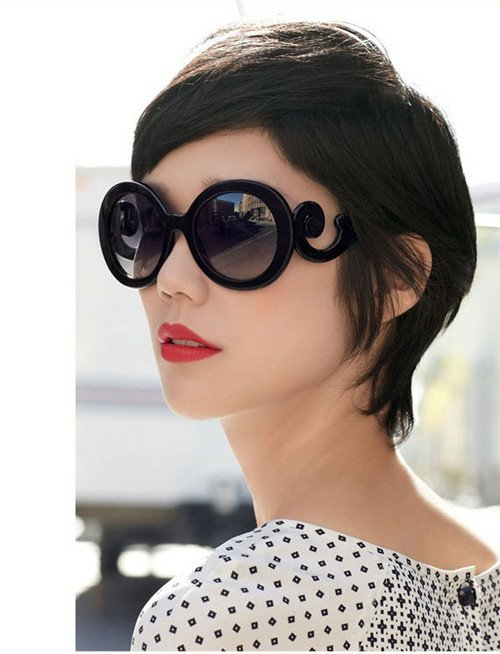 Retro-inspired Women Butterfly Clouds Arms Semi Transparent Round Sunglasses New[04070153]