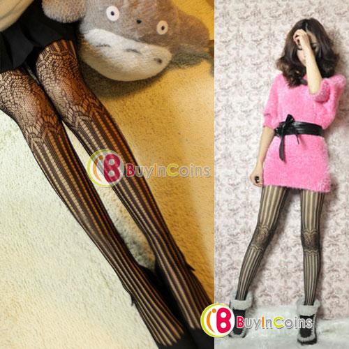 Retro Sexy Women Lady Soft Stripe Tights Fashion Pantyhose Mesh Socks Stockings[10795|01|01]