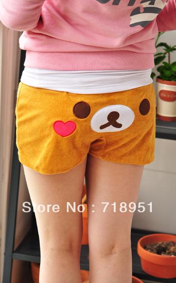 rilakkuma  easily bear Bear cute Japanese relaxation toweling household hot pants, shorts pants, beach pants, pajamas