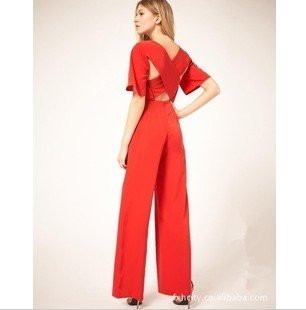 S-L free shipping manufacturers supply new fashion women's fashion coveralls pants #F5294