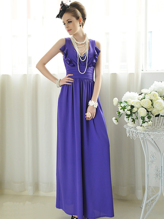 S-XL free shipping manufacturers supply women's Purple temperament flouncing waisted women the wide leg coveralls pants#RS01
