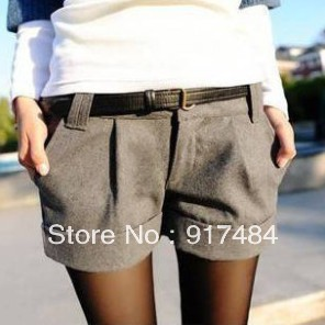 S12 Free shipping Retail / wholesale 2013 Fashion Sexy woman woolen shorts flanging boots, pants / shorts scanties