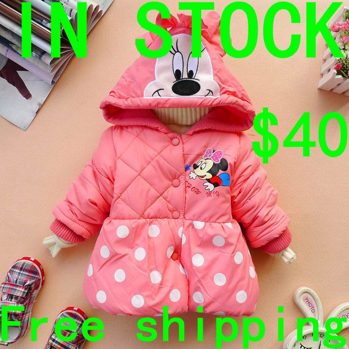 Sale Mickey mouse Jacket 4pcs/lot Children clothing 2-7 olds Kids clothes Winter coat