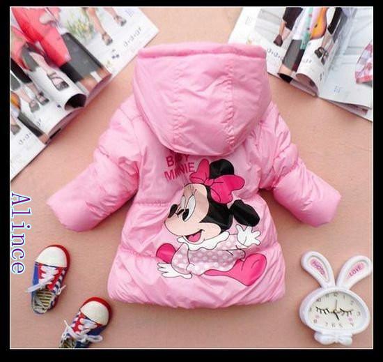 Sale Minne mouse Jacket 4pcs/lot Children clothing 2~7years Kids clothes Winter coat  2012