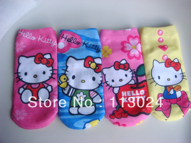Sample order  !!! HOT Free Shipping famous brands high qaulity retail 4pairs/lot  variety of  boys and girls cartoon socks