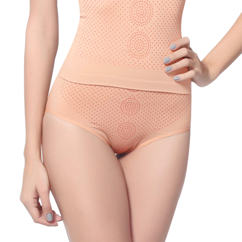 Seamless high waist abdomen panties drawing body shaping panties drawing abdomen pants female