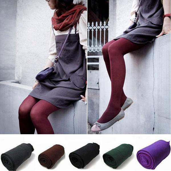 Sexy 6 Color Womens Ladies 80D Opaque Velvet Stockings Tights Leggings Pantyhose