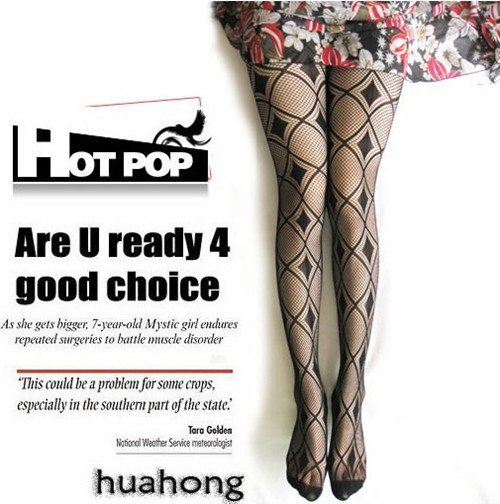 Sexy Black Plaid Pantyhose Jacquard Tights Mesh Leggings stockings Wholesale Free shipping H-A021
