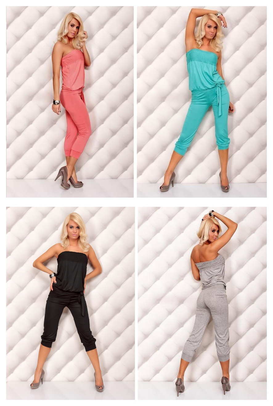 Sexy Elegant Black/Blue/Hot Pink/Purple Jumpsuit Overalls Pants Romper Clubwear Gogo dance Free Shipping @xy4005