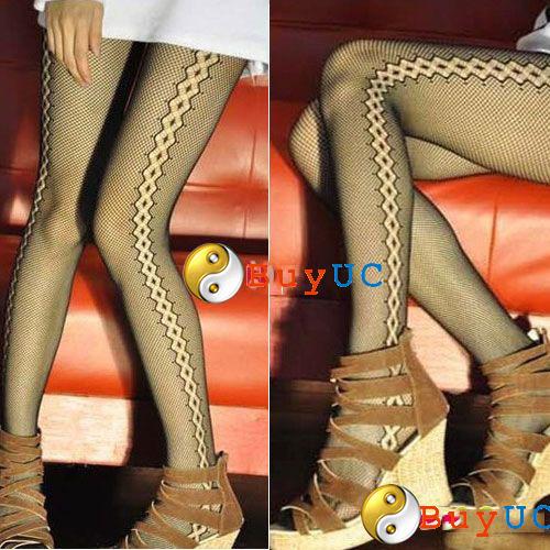 Sexy Fishnet Stockings Sides Seam Pattern Pantyhose Tights
