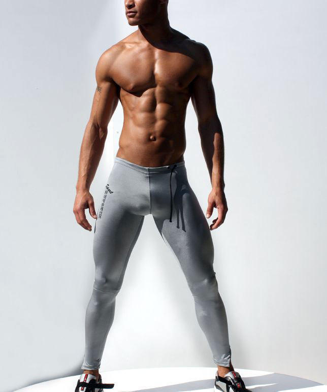 sexy men's sports underwear,low-waist tight Ultra-thin shape sports pants