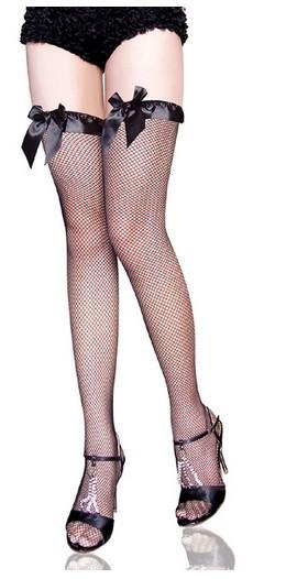 Sexy Stockings Women Sexy Lingerie Poly Pantyhose 2013 Black Vara Bow