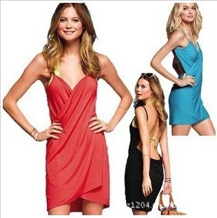 sexy Swimwear Dress Bikini Cover-Up beach dress women's dresses stretch material 1 pc retail many color