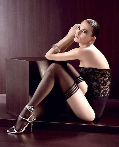 Sexy women's underwear sexy Core-spun Yarn ultra-thin transparent stockings 98807