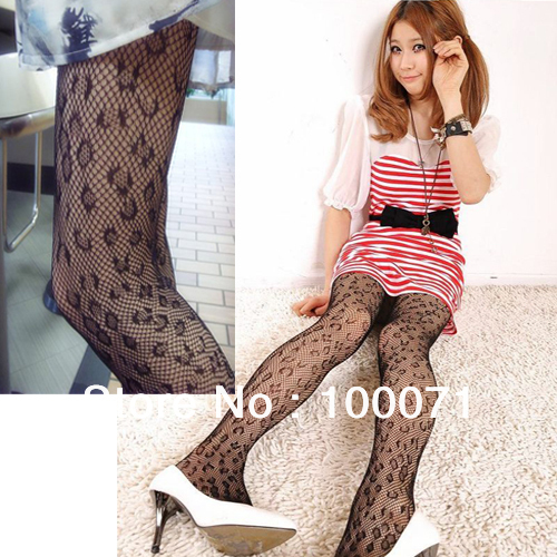 Sexy Women Soft Tights Fashion Leopard Net Pattern Jacquard Pantyhose Stockings  [10797|01|01]