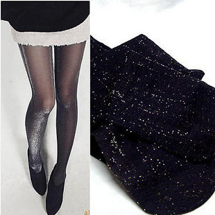 Shining stockings  pantyhose Women silk Socks leggings Free shipping ,black color