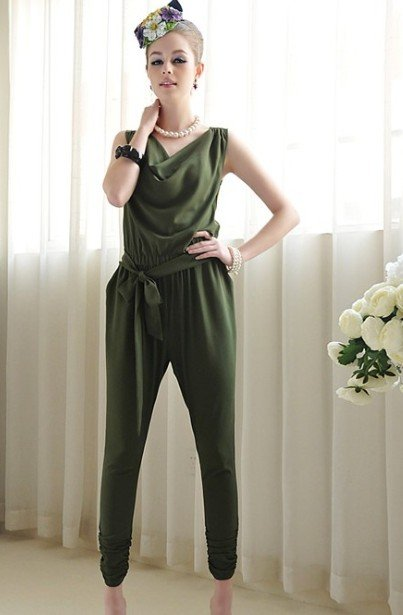 (Shipping Free!!)Casual Jump Suit/ US Fashion Pants 8179