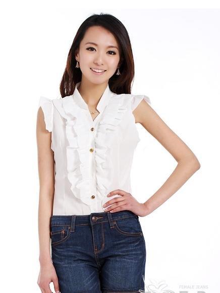 Shorts cowboy female dark blue show thin flanging han edition fashion trend