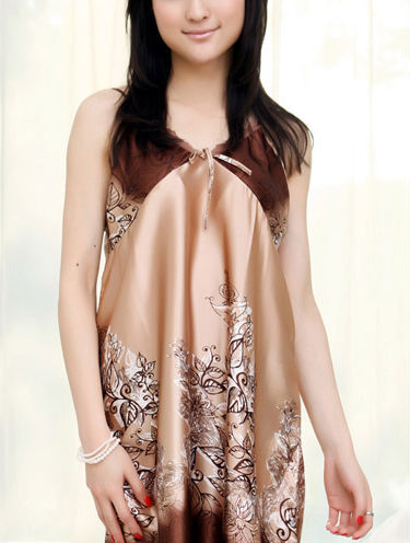Silk sexy suspender robe two sets of home furnishing pajamas nightdress