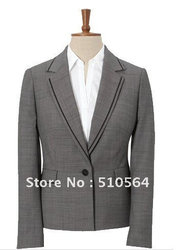 Single-Breasted one Button Wool women Suit and Women Dress