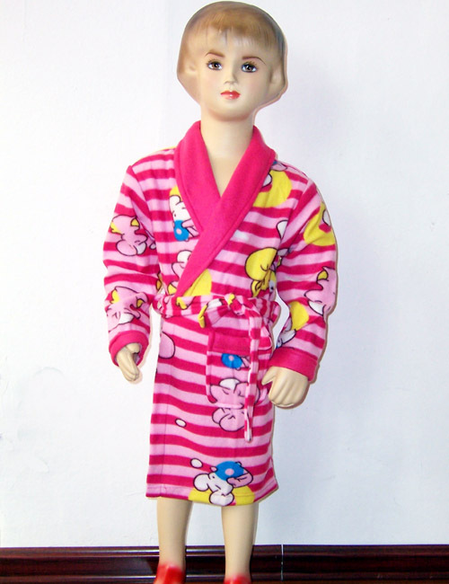 Sleepwear pink bear 3 red blue girl ploughboys double faced fleece robe bathrobes cotton panties