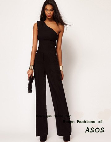slim long jumpsuit for single shoulder designing for asos free shipping for epacket and china post air mail