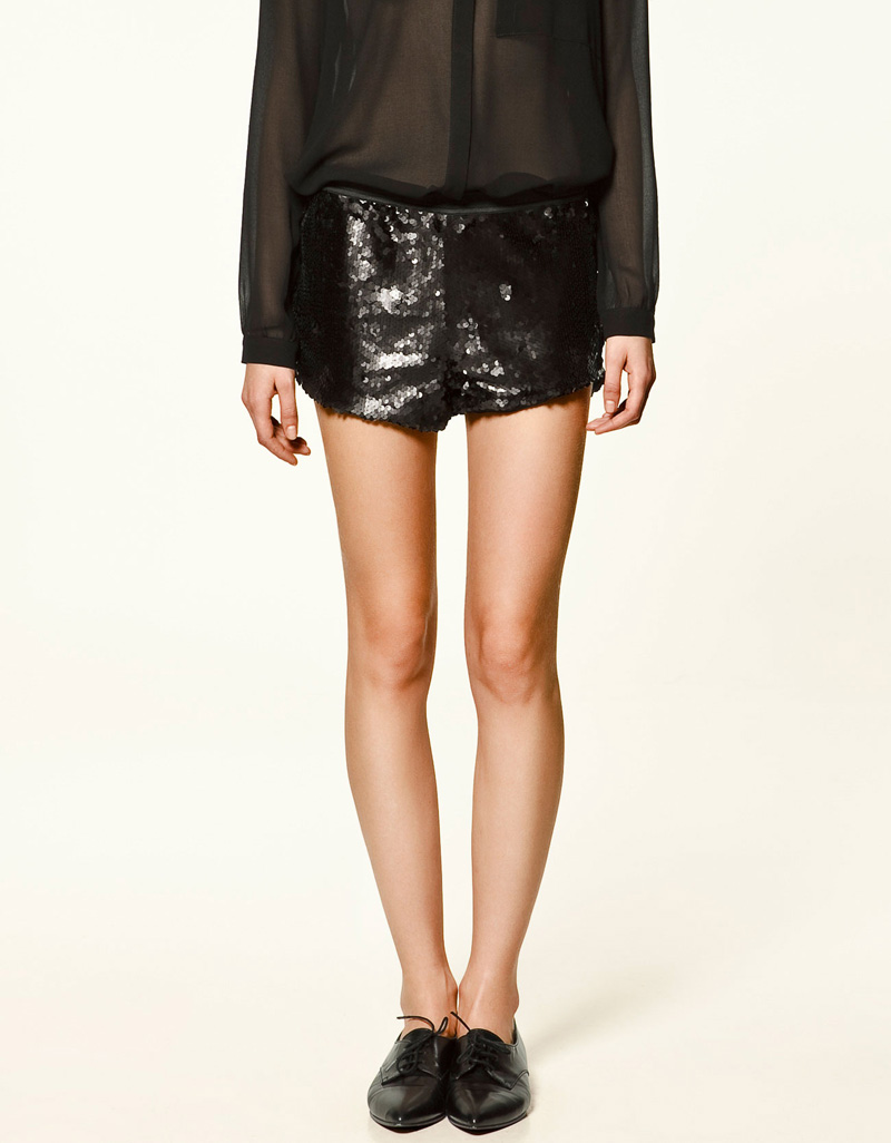 Small z bling-bling lady luxurious paillette sequin shorts