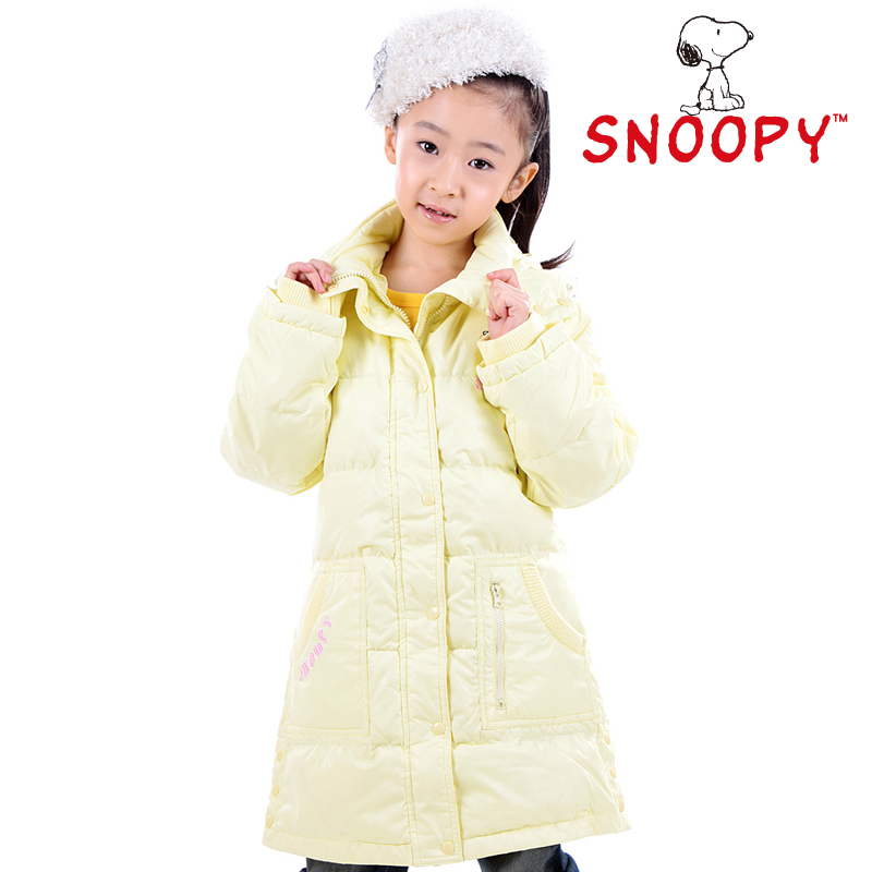 Snoopy SNOOPY female child medium-long slim down coat child down coat 8st19