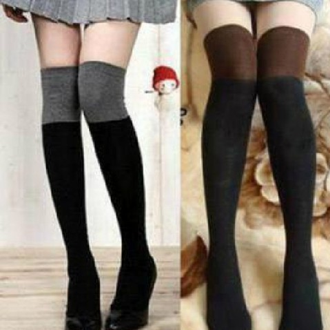 Socks Thigh High Cotton Stockings Thinner Over The Knee
