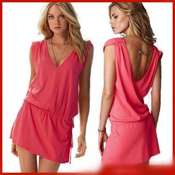 Solid Bikini Swimwear dress, holiday Beach skirt casual dress free shipping swimwear 5014