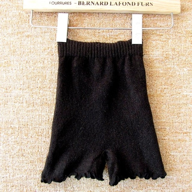 Spring and autumn female legging knitted woolen cloth shorts safety pants elastic big