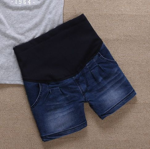 Spring and autumn maternity pants vintage wearing white maternity shorts maternity clothing belly pants summer maternity jeans