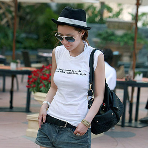 Spring and summer cap women's fedoras black grey fashion hat b11094