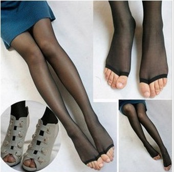 Spring/Summer Ladies'  Fish-mouth Pantynose/Leggings Women Snagging Resistance Stockings