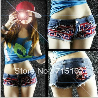 Steel pipe nightclub jazz hipster flag shorts new