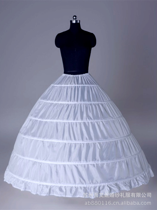 Steel skirt  wedding dress petticoat wedding panniers costume slip 6 ring yarn plus size pannier customize Petticoats