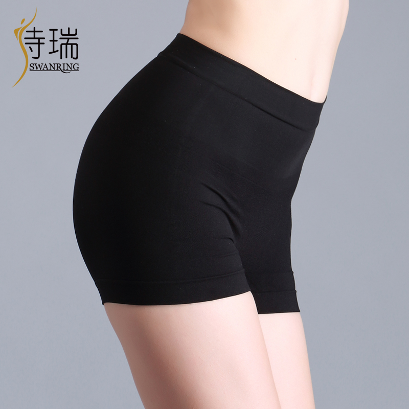 Strep butt-lifting abdomen panties drawing tiebelt women's body shaping pants black female body shaping pants