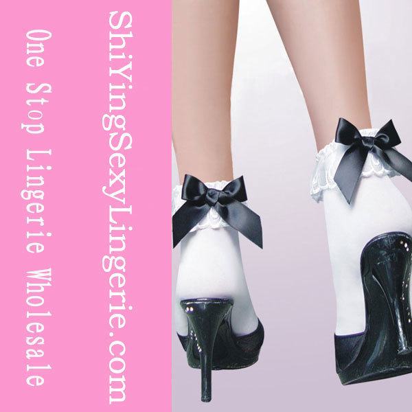 Stretch  Ankle Socks with Ruffle Bow Cheap Price Drop Shipping LC79125
