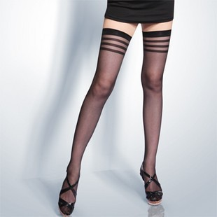 Stylish Alluring women Sexy Ultrathin Transparent Elastic Thigh High Silk Stockings