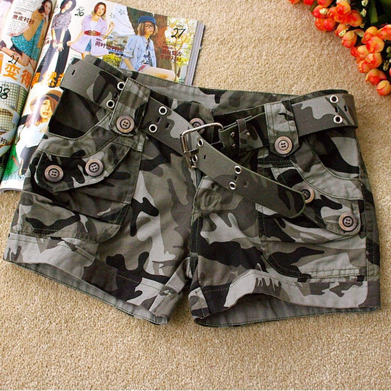 summer  2013 women's military camouflage shorts casual pants